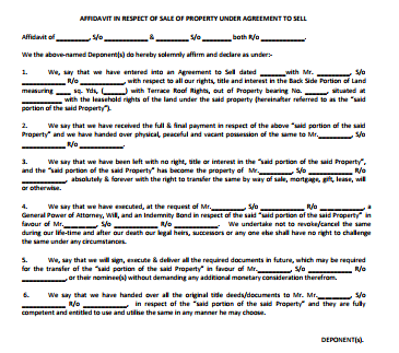 GIFT DEED OF THE AMOUNTS PAID UNDER AN AGREEMENT TO SELL BY NOMINATION OF ALL THE RIGHTS, TITLES AND INTEREST
